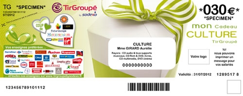 cheque Tir Groupé Culture