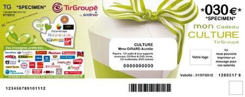 cheque Tir Groupé Culture
