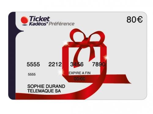 cheque Carte Ticket Kadéos Préférence